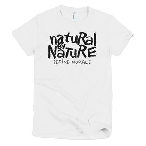 Natural By Nature (White) - Short Sleeve Women's T-shirt