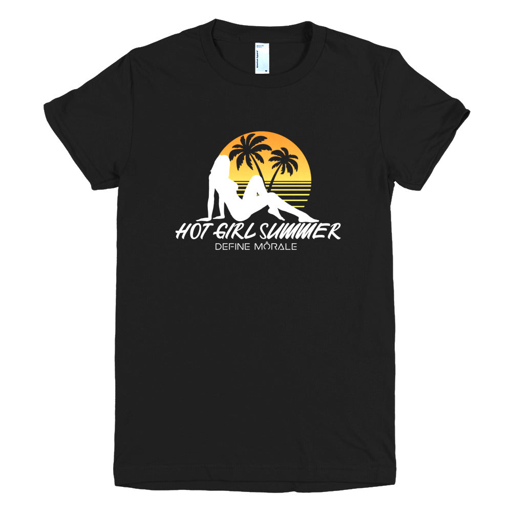 Hot Girl Summer - (Black) Short sleeve women's t-shirt