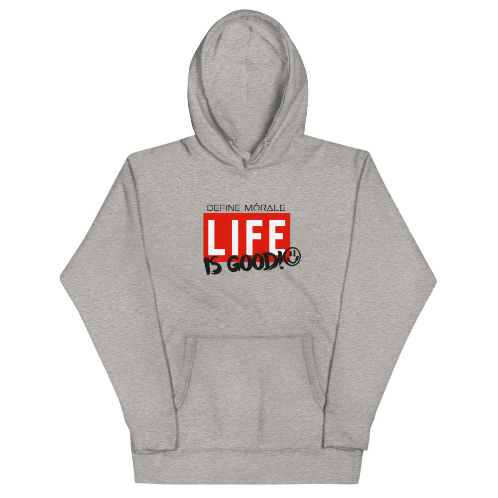 Life Is Good - (Grey and White) Unisex Hoodie