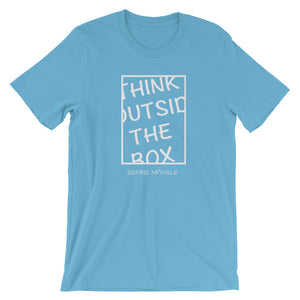 Outside The Box - (Ocean Blue) Short-Sleeve Unisex T-Shirt