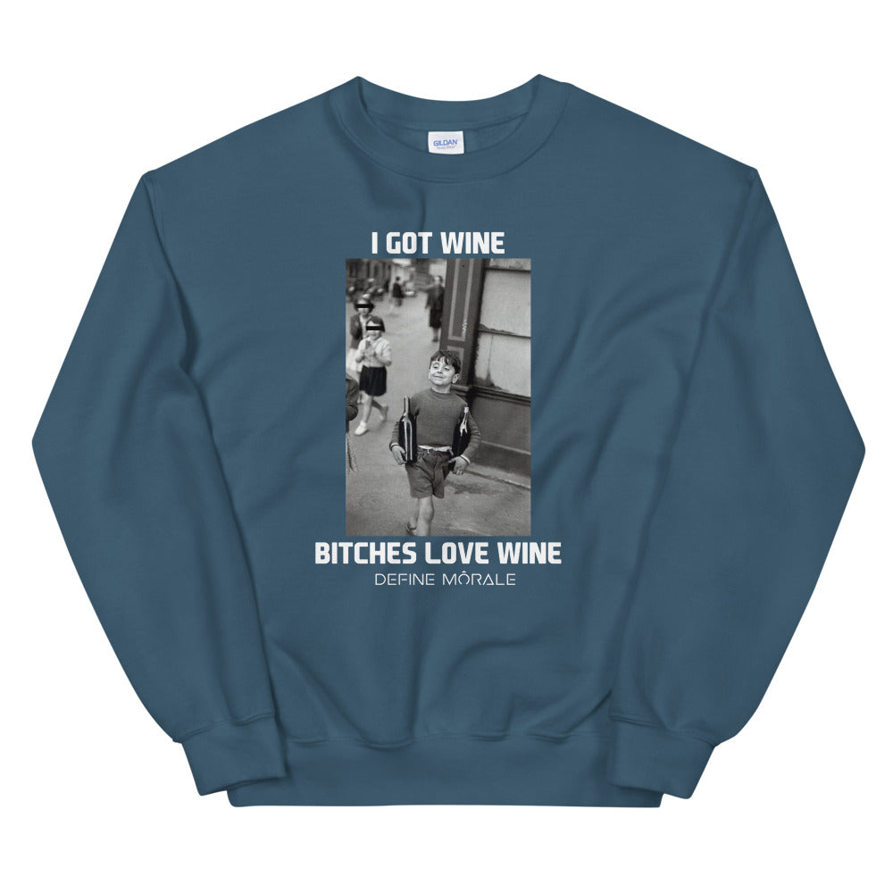 Got Wine - (Indigo) Unisex Sweatshirt