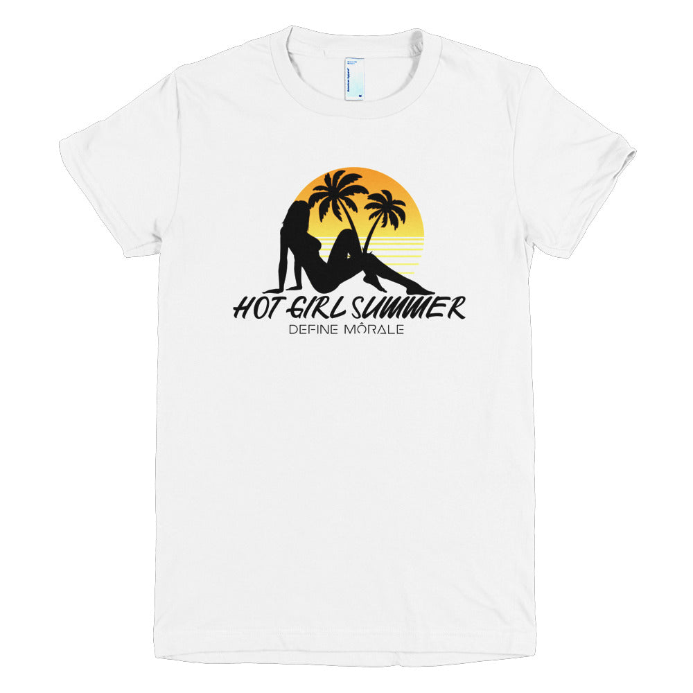Hot Girl Summer - (White) Short sleeve women's t-shirt