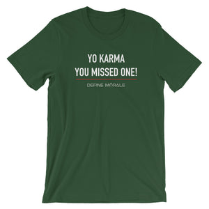 Yo Karma - (Black & Green) Short-Sleeve Unisex T-Shirt