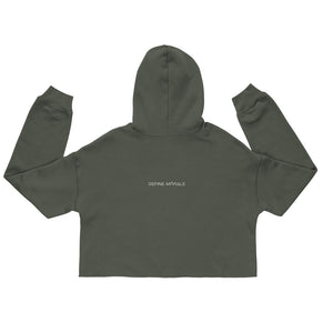 Boys Will Be Accountable - (Military Green) Crop Hoodie