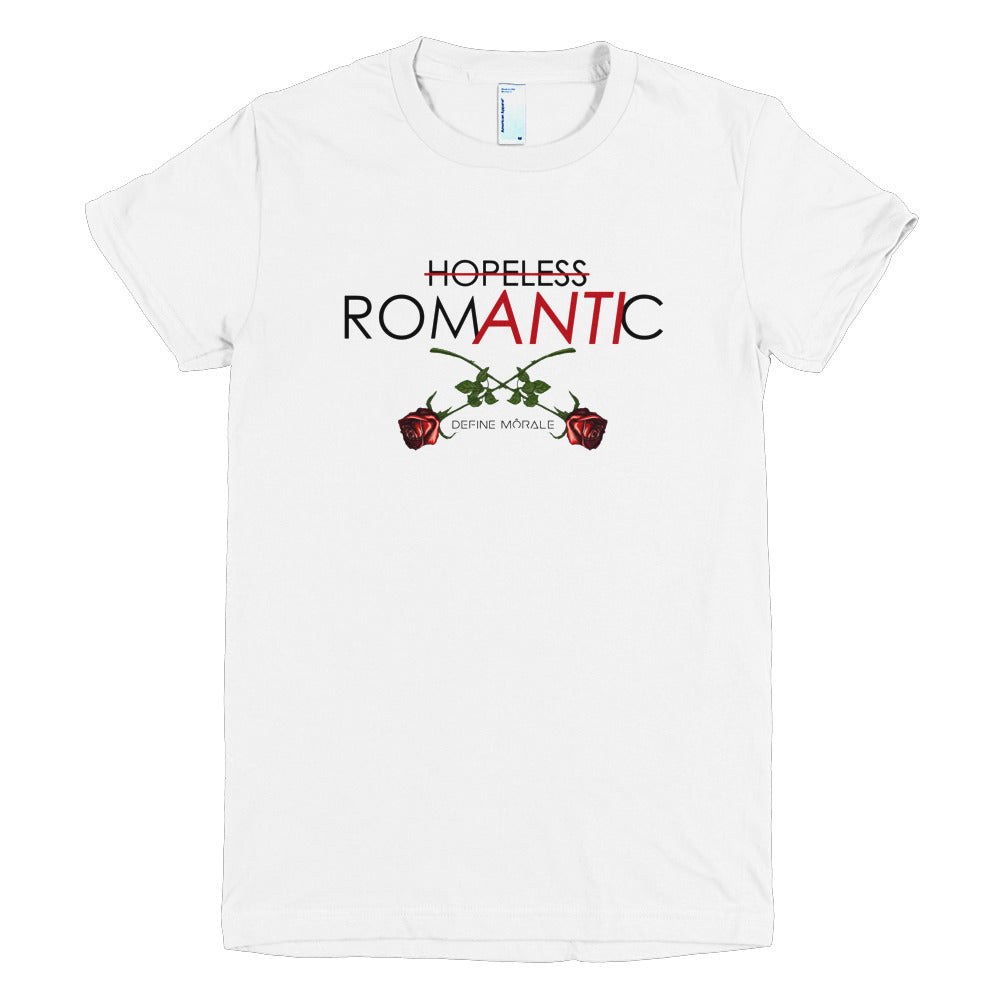 Hopeless Anti-Romantic - (White)  sleeve women's t-shirt