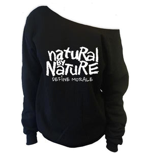 Natural By Nature - (Black) Womens Off The Shoulder Fleece