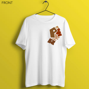 Had Enough (White & Cream) - Unisex White T-Shirt