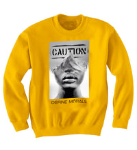 Proceed With Caution - (Gold) Unisex Sweatshirt