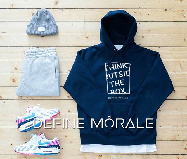 Think Outside The Box - (Navy) Unisex Hoodie