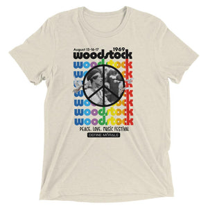 Woodstock '69 - (Tri Blend Oatmeal) Short Sleeve Unisex T-Shirt