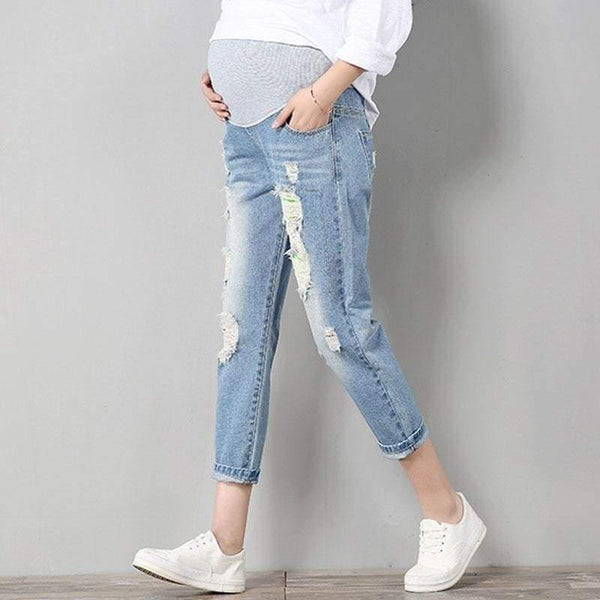 , Active Denim Jeans with Over The Bump Waistband, Jeans, Maternity Fashion and Parenting Gadgets