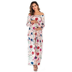 , Beautiful Off Shoulder Maternity Dress, maternity dress, Maternity Fashion and Parenting Gadgets