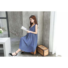 , Feminine Maternity Dress in Blue, maternity dresses, Maternity Fashion and Parenting Gadgets