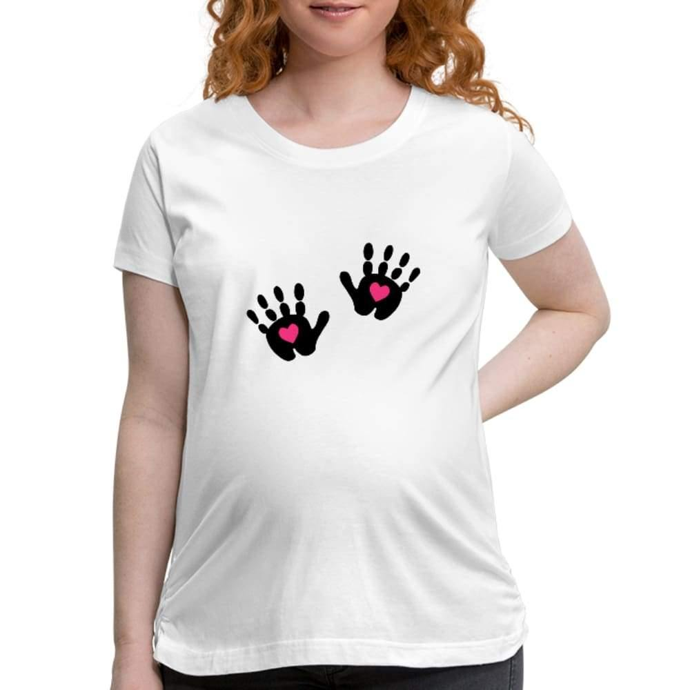 , Love Hands Maternity Top, Women's Maternity T-Shirt, Maternity Fashion and Parenting Gadgets