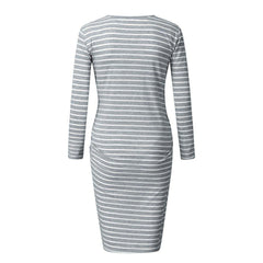 , Maternity Women Dress Pregnancy Stripe, maternity dress, Maternity Fashion and Parenting Gadgets
