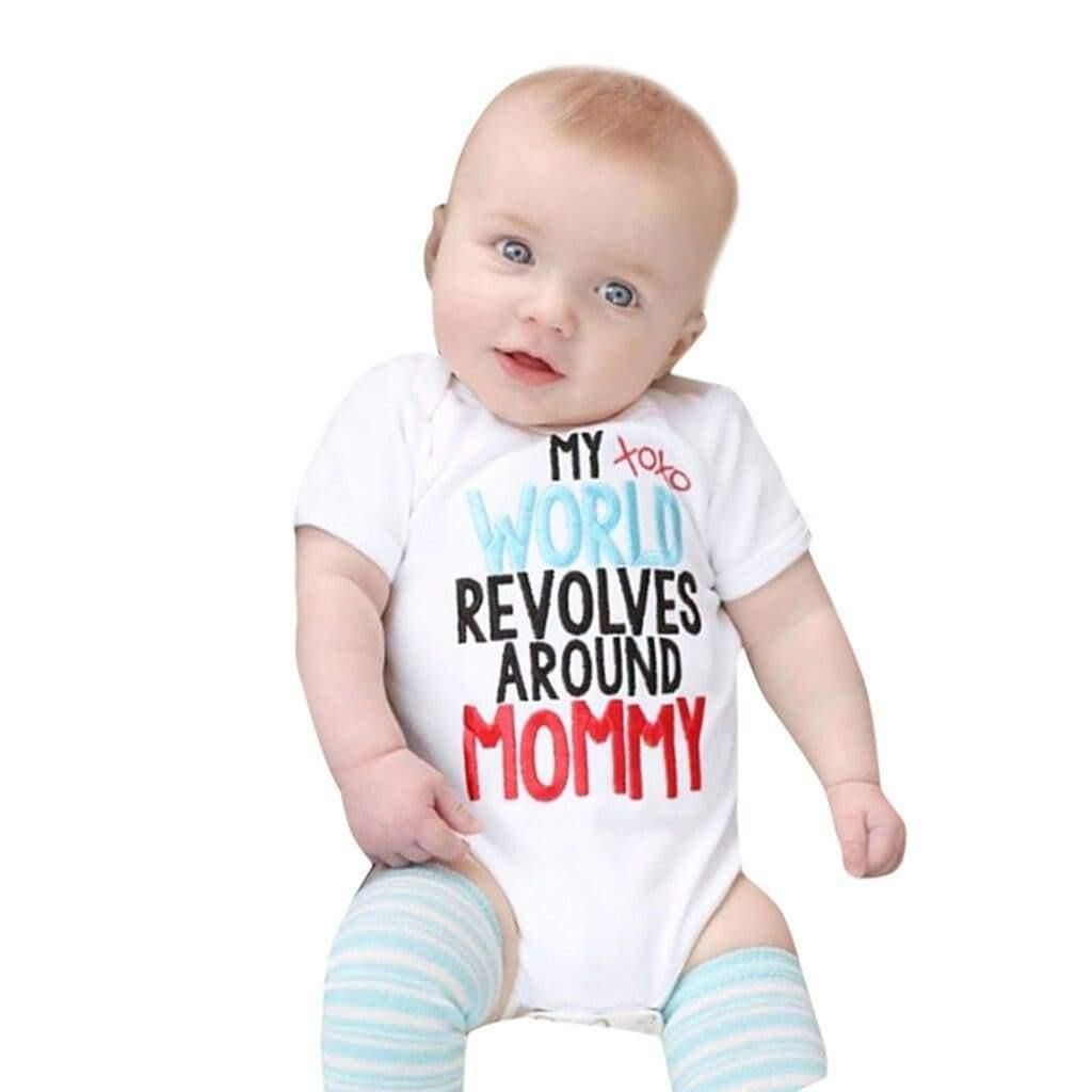 , My world revolves around mommy baby romper, Kids & Babies, Maternity Fashion and Parenting Gadgets