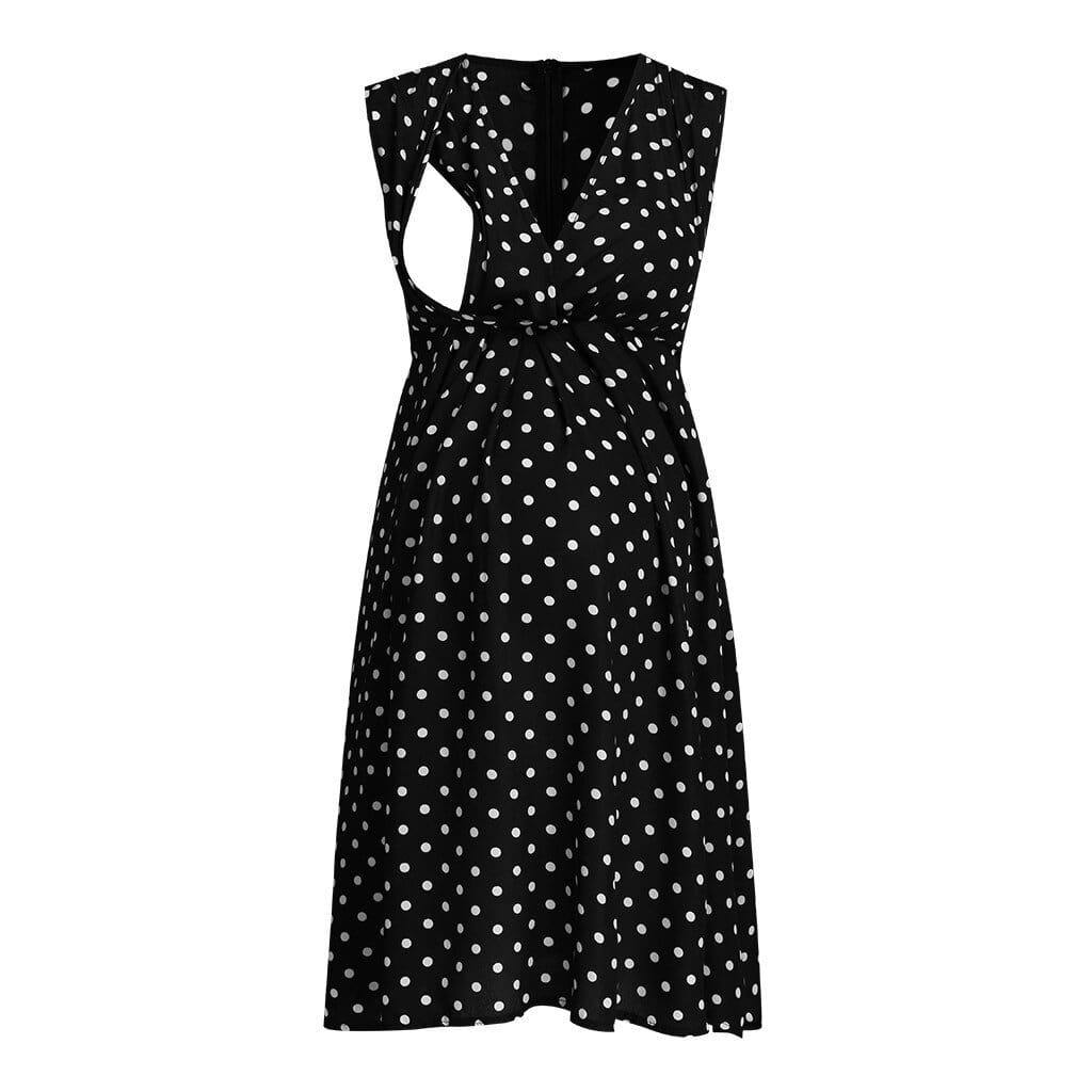 , Pregnancy & Nursing Dress Dotted, Nursing, Maternity Fashion and Parenting Gadgets