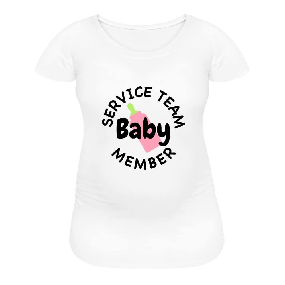 , Service Baby Team Member, Women's Maternity T-Shirt, Maternity Fashion and Parenting Gadgets