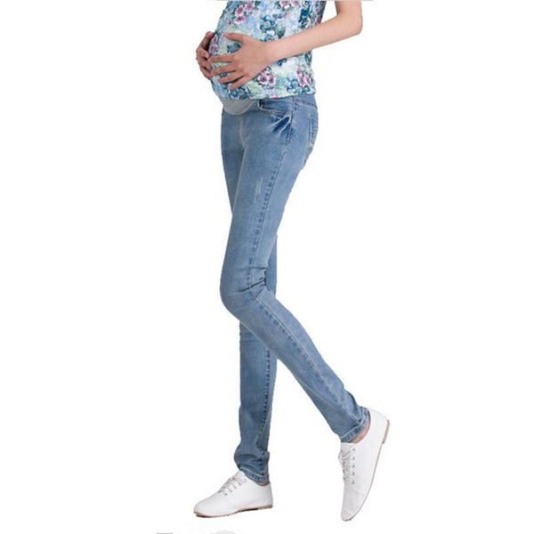 , Stylish Elastic Waist Maternity Denim Jeans, Jeans, Maternity Fashion and Parenting Gadgets