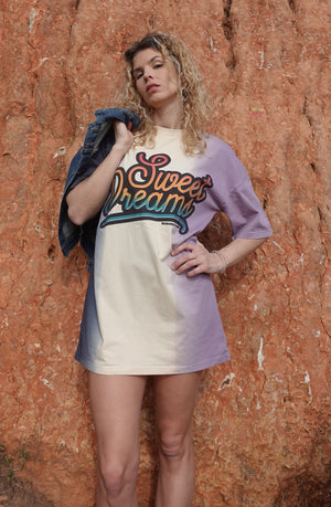 ROBE T-SHIRT AMPLE DIP DYE SWEAT DREAM