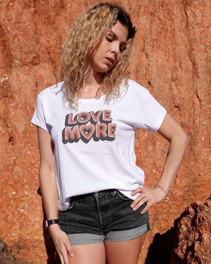 T-shirt ample Love more