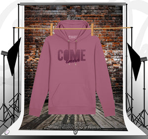 SWEAT À CAPUCHE Mauve Come Amour