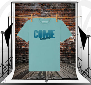 T-shirt teal Come Amour