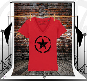 Black star sur Red