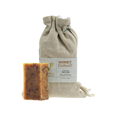 Vanissa Organic Soap Bar - Face Bar - Honey Oatmeal - Made with Certified Organic Ingredients