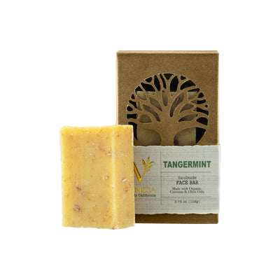 Vanissa Organic Soap Bar - Face Bar - Tangermint - Made with Certified Organic Ingredients