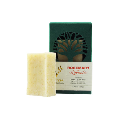 Vanissa Organic Soap Bar - Speciality Bar - Rosemary & Lavender - Made with Certified Organic Ingredients
