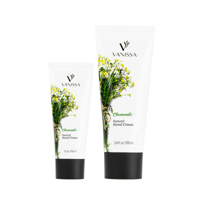 Vanissa Natural Hand Cream - Chamomile Scent - Made with Shea Butter & Jojoba Oil