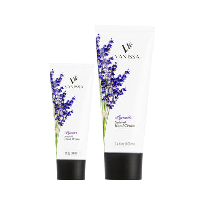Vanissa Natural Hand Cream - Lavender Scent - Made with Shea Butter & Jojoba Oil