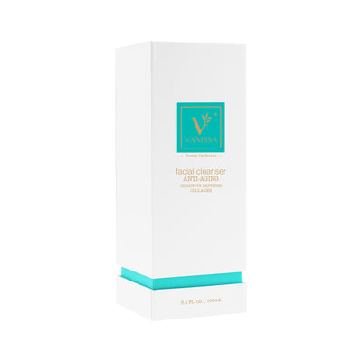 Vanissa Anti-Aging Facial Cleanser - Anti-Aging Cleanser - Collagen & Bioactive Peptides