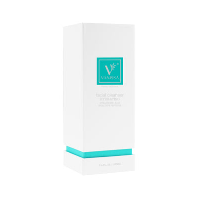 Vanissa Hydrating Facial Cleanser - Hydrating Cleanser - Hyaluronic Acid & Bioactive Peptides - Gift Set