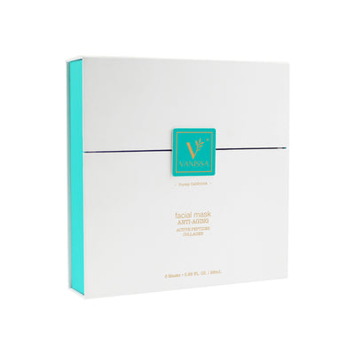 Vanissa Anti-Aging Facial Masks - Peel Off Cloth Face Mask - Collagen & Bioactive Peptides - Gift Set
