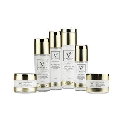 Vanissa Anti-Aging Skin Care Gift Set - Anti-Aging Skin Care - Collagen & Bioactive Peptides - 6 Piece Gift Set
