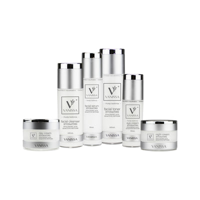 Vanissa Hydrating Skin Care Gift Set - Hydrating Skin Care - Hyaluronic Acid & Bioactive Peptides - 6 Piece Gift Set