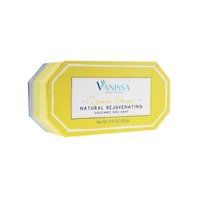 Vanissa Natural Volcanic Soil Soap Bar - Lemon Scent