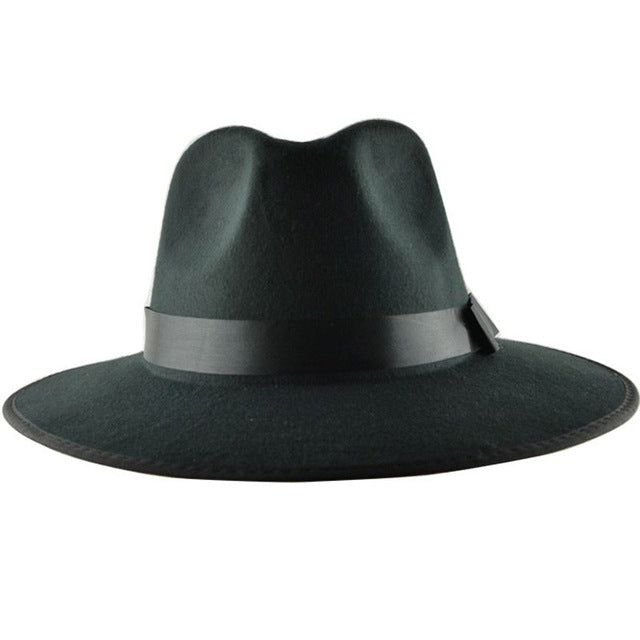 Men s Vintage Formal Polyester Fedora Hat With Wide Brim. Size 56 to ... af8ac2d4b87