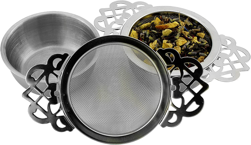 Empress Tea Strainer & Drip Bowl - Set of 2 - SolsticeTeaTraders