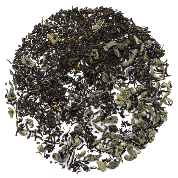 Kombucha Loose Leaf Black and Green Tea 50/50 Blend - SolsticeTeaTraders