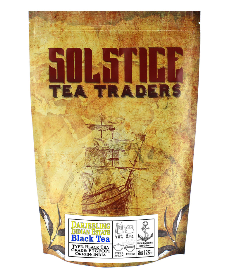 Darjeeling Indian Estate Black Tea - SolsticeTeaTraders