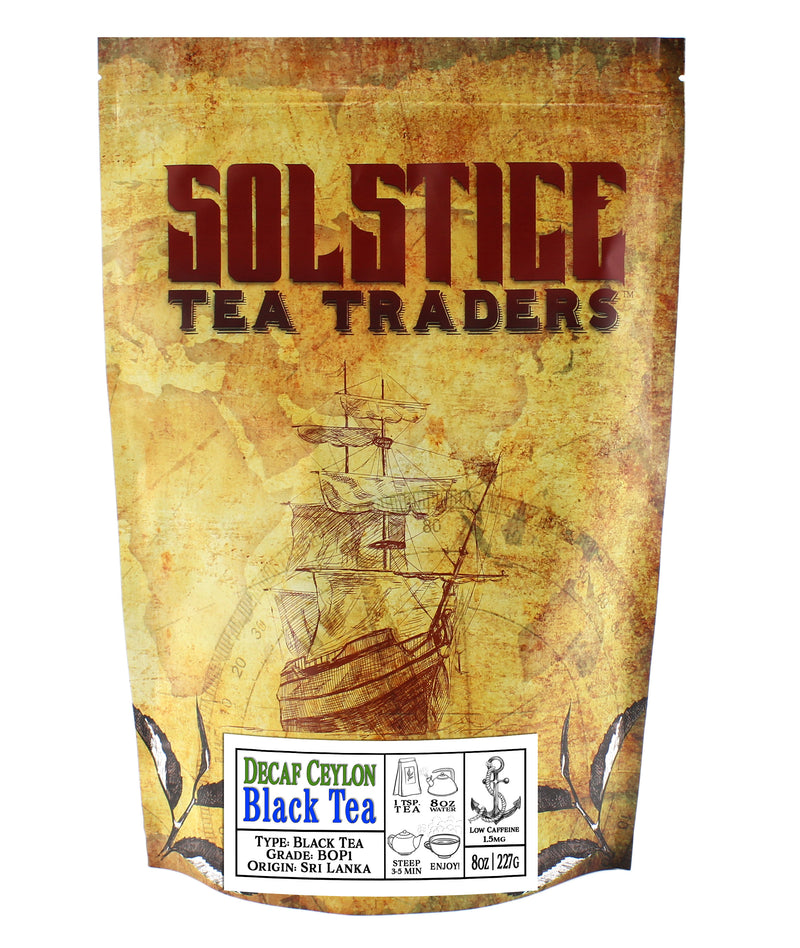 Decaffeinated Ceylon Estate Black Tea - SolsticeTeaTraders