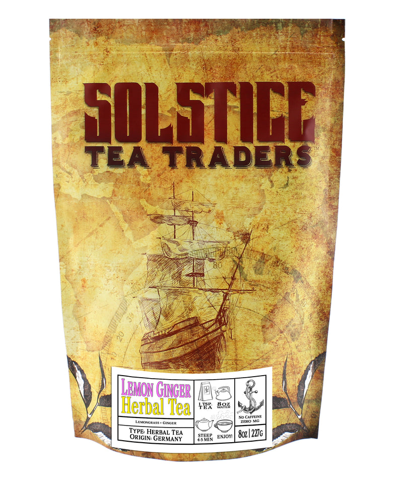 Ginger Lemon Herbal Tea - SolsticeTeaTraders