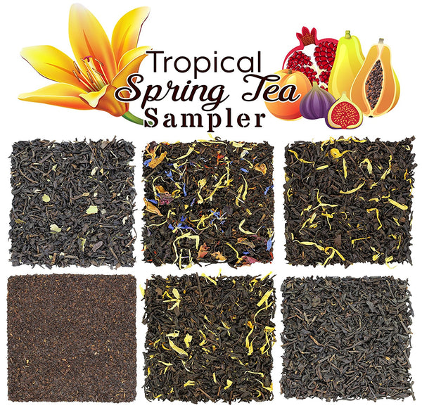 Tropical Tea Spring Tea Sampler - SolsticeTeaTraders