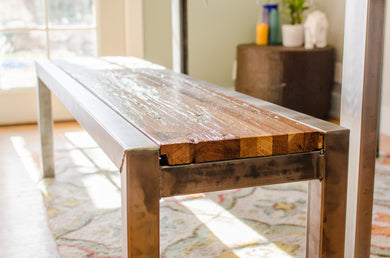 Wood + Steel Bench