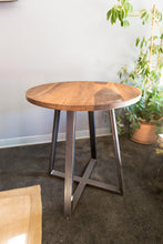 Round Wood + Steel Dining Table
