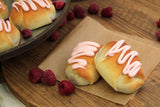 Raspberry Butterhorns - Pack Of 6
