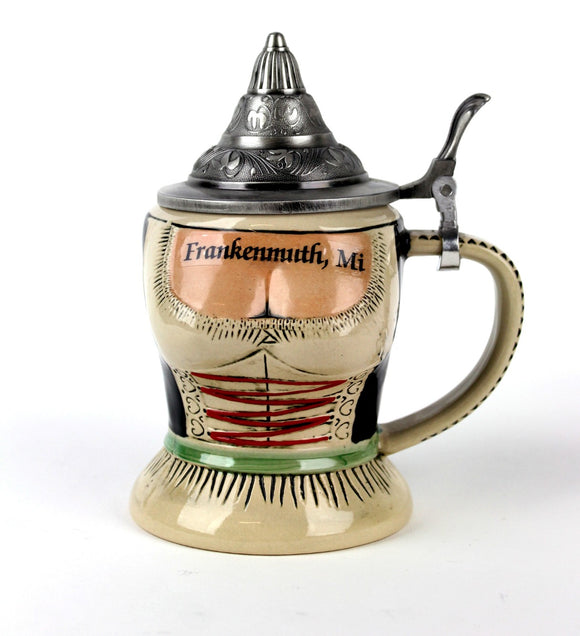 German Dirndl Stein with Lid
